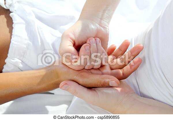 digital pressure hands reflexology massage tuina therapy - csp5890855