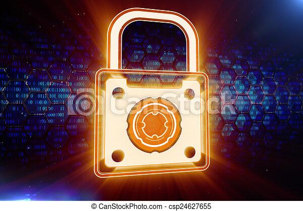 Digital safety concept - csp24627655