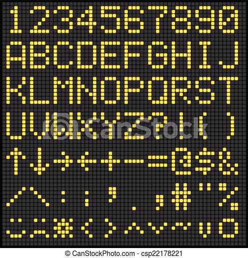 Digital Scoreboard Alphabet - csp22178221