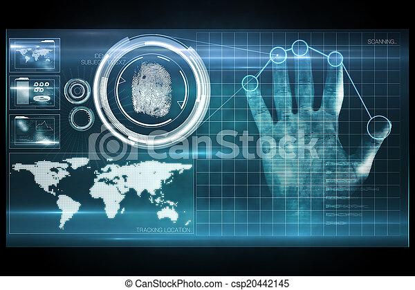 Digital security hand print scan - csp20442145