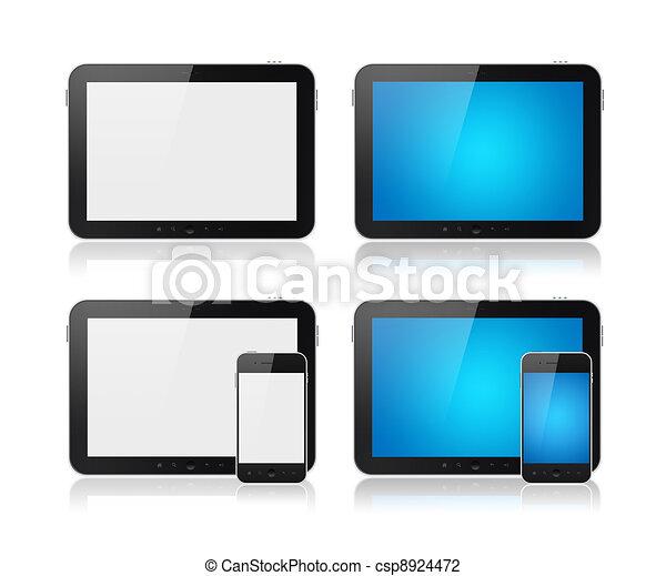 Digital Tablet With Mobile Smart Phone Set - csp8924472