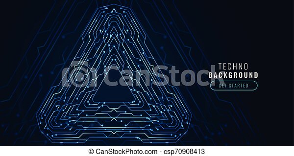 digital technology circuit diagram futuristic banner - csp70908413