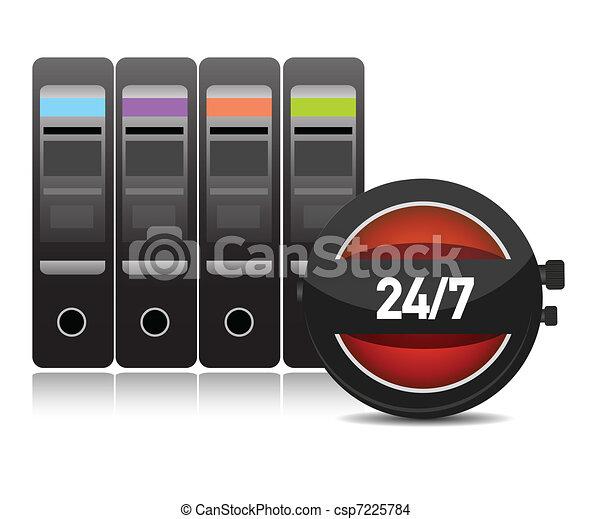 Digital time / server time - csp7225784