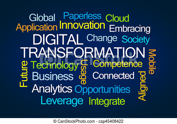 Digital Transformation Word Cloud - csp45408422
