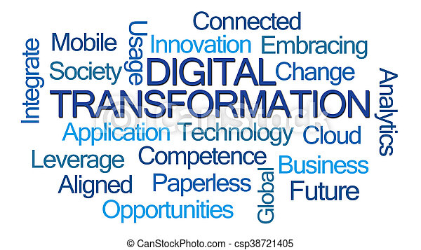 Digital Transformation Word Cloud - csp38721405
