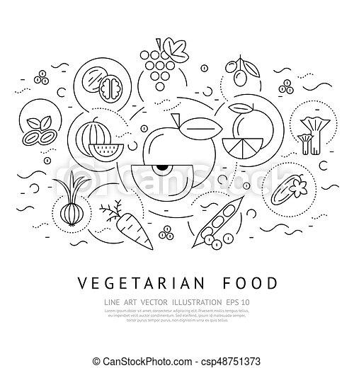 Digital vector black vegetable icons set - csp48751373