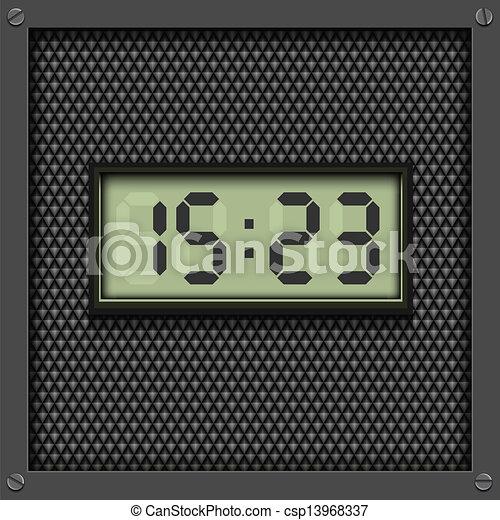 Digital watch background - csp13968337