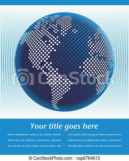 Digital world design. - csp6764615
