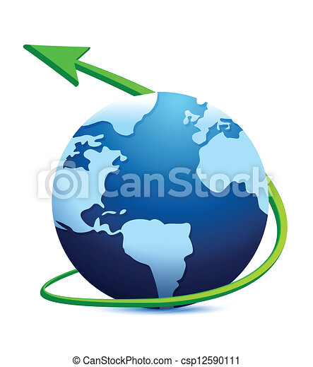 Digital world globe - csp12590111