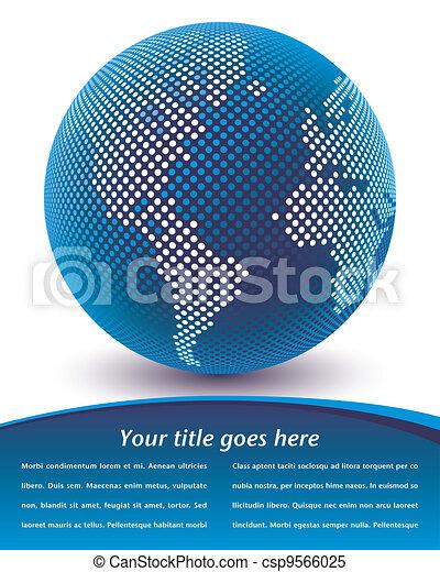 Digital world map design. - csp9566025