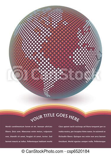 Digital world map design. - csp6520184