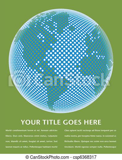 Digital world map design. - csp6368317