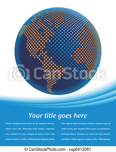 Digital world map design. - csp6412081