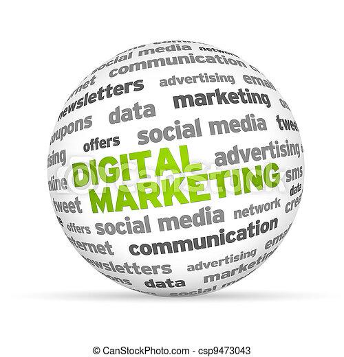 digitale, marketing - csp9473043