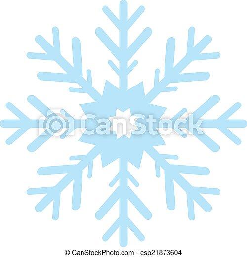 digitalement, flocon, engendré, neige bleue - csp21873604