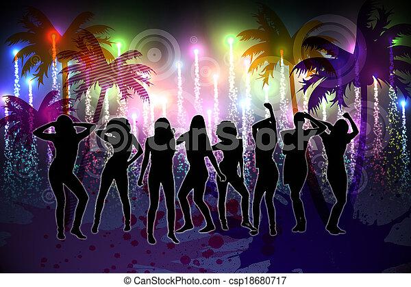 digitalement, vie nocturne, fond, engendré - csp18680717
