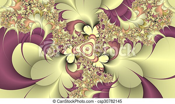 Digitally created fractal background - csp30782145