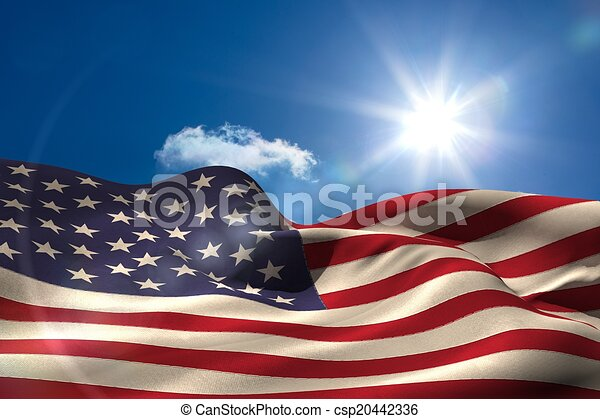 Digitally generated american flag rippling - csp20442336