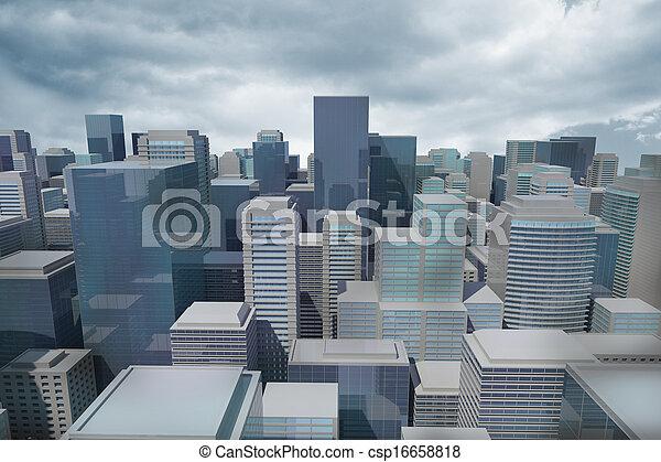 Digitally generated cityscape - csp16658818