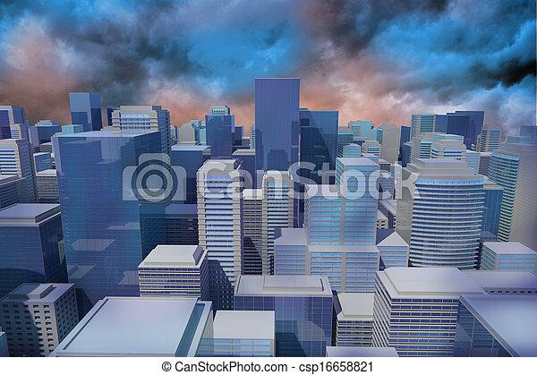 Digitally generated cityscape - csp16658821