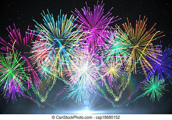 Digitally generated firework design - csp18680152