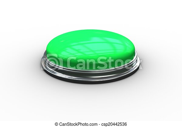 Digitally generated green push button - csp20442536