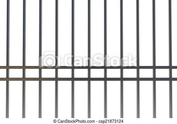 Digitally generated metal prison bars - csp21873124