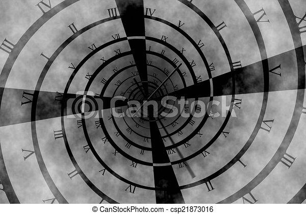 Digitally generated roman numeral clock vortex - csp21873016