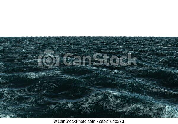 Digitally generated Rough blue sea - csp21848373