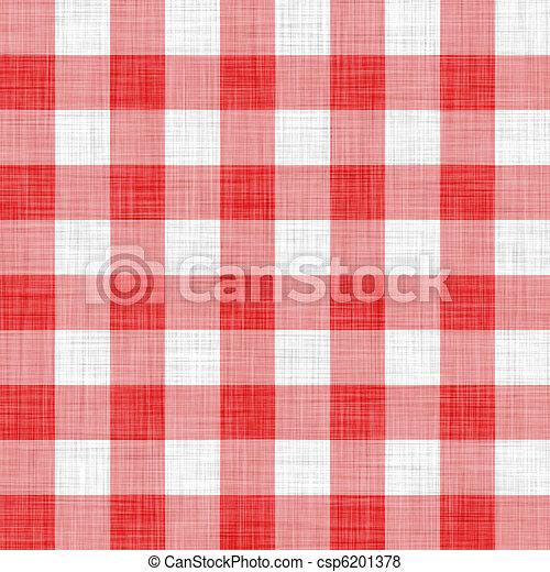 digitally made red picnic cloth  - csp6201378