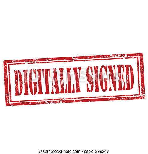 Digitally Signed-stamp - csp21299247