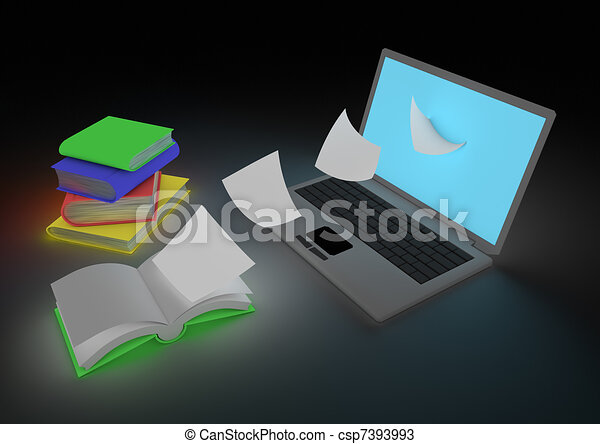 digitizing book concept render of the digitizing process rh canstockphoto com Digitizing CD clipart for digitizing embroidery