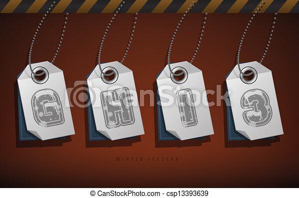 Digits & capital letters - csp13393639