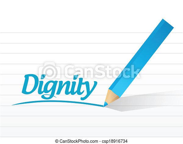 dignity message illustration design - csp18916734