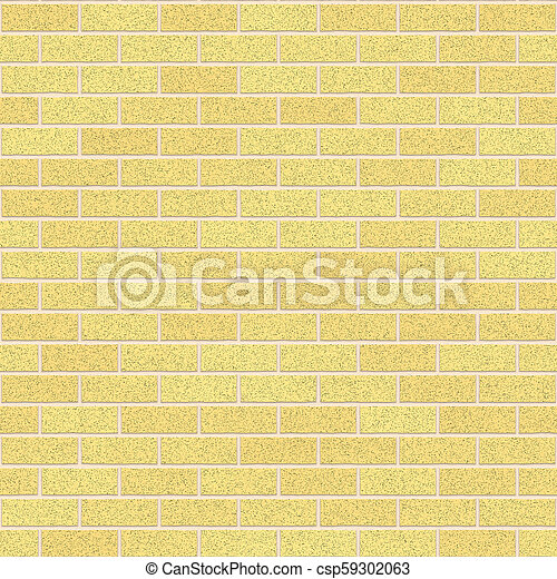 Dijon Yellow Clay Bricks Seamless Texture - csp59302063