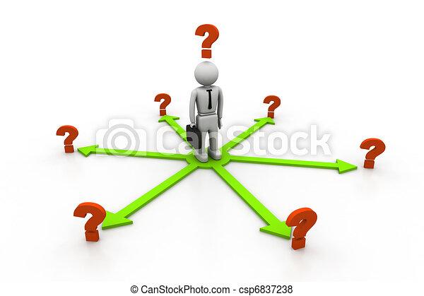 dilema, elecciones - csp6837238
