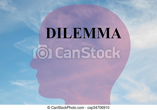 Dilemma concept - csp34706910