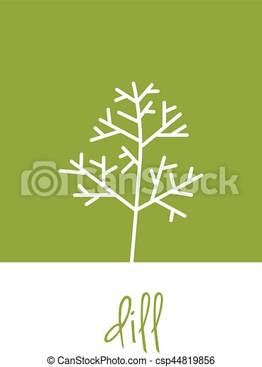 dill icon on green square - csp44819856