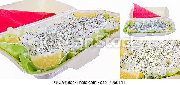 dill with sour cream lemon and lettuce - csp17068141