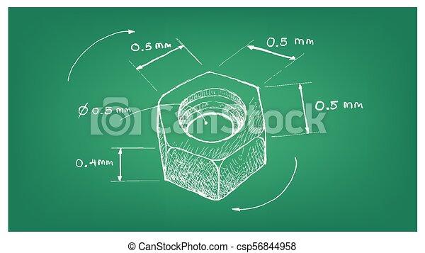 Dimension of hex nut screw on blueprint manufacturing and dimension of hex nut screw on blueprint csp56844958 malvernweather Image collections