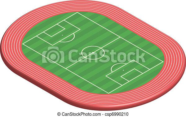 Dimensional Feld 3 Fussballplatz