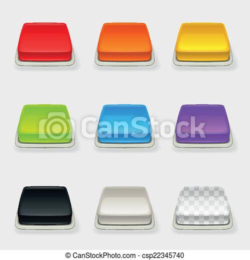 Dimensional square button set - csp22345740
