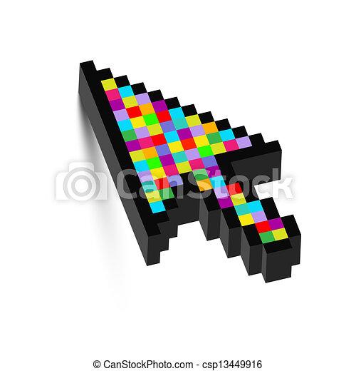 dimensionnel, coloré, trois, flèche - csp13449916