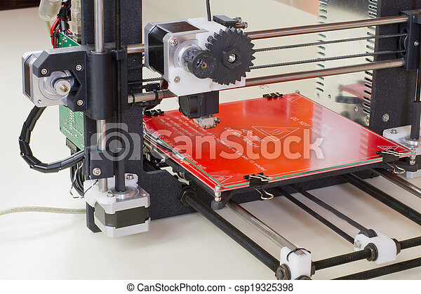 dimensionnel, imprimante, trois - csp19325398