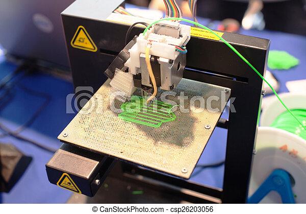 dimensionnel, machine, impression, trois - csp26203056