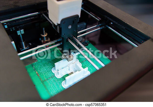 dimensionnel, printer., impression, trois, machine - csp57065351