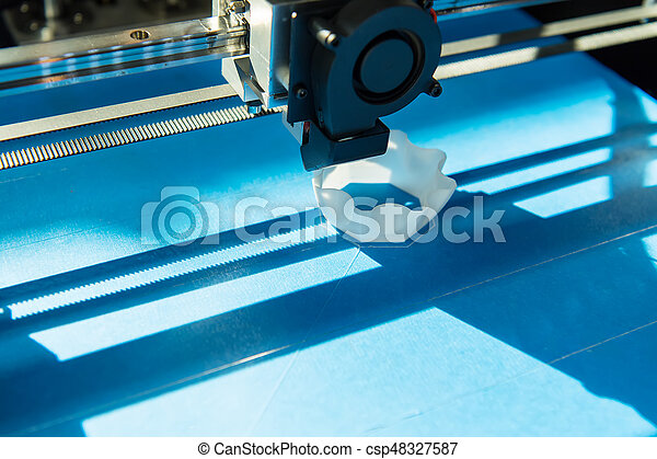 dimensionnel, printer., impression, trois, machine - csp48327587