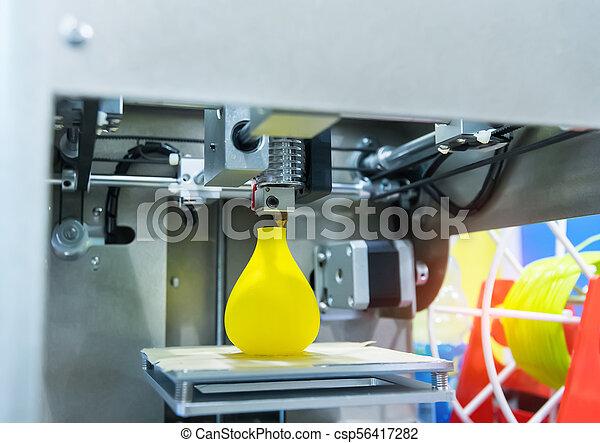 dimensionnel, printer., impression, trois, machine - csp56417282