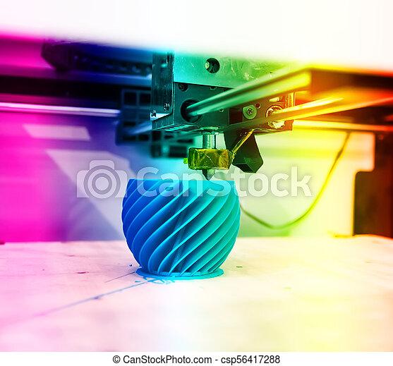 dimensionnel, printer., impression, trois, machine - csp56417288
