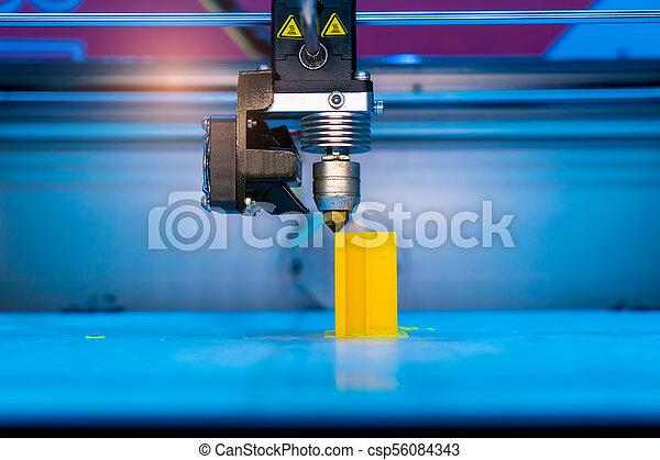 dimensionnel, printer., impression, trois, machine - csp56084343